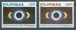 Philippines YT N°1608/1609 Eclipse Totale De Soleil Du 18 Mars 1988 Neuf ** - Philippinen