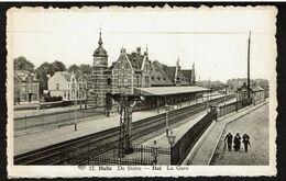 Halle - De Statie - Hal - La Gare - Circulée - Uitg. Gust. Desmet-Dierickx - 2 Scans - Halle
