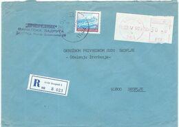 Yugoslavia - Serbia Belgrade 1990 Registered Label,meter Stamp - 1945-1992 Socialist Federal Republic Of Yugoslavia