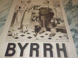 ANCIENNE PUBLICITE LA GRANDE SEMAINE    BYRRH 1934 - Alcohols