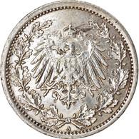 Monnaie, GERMANY - EMPIRE, 1/2 Mark, 1915, Berlin, TTB+, Argent, KM:17 - [ 2] 1871-1918: Deutsches Kaiserreich