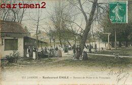 SAINT-MAUR ILE JAMBON RESTAURANT EMILE BATEAUX DE PECHE ET DE PROMENADE 94 - Saint Maur Des Fosses