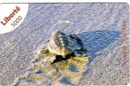 Nouvelle Caledonia New Caledonie Telecarte Phonecard Prepaid Publique Liberte Tortue Turtle 5000 F Exp.16 Ut. TB - New Caledonia