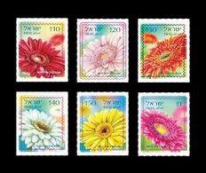 Israel 2020 Mih. 2734/39 Definitive Issue. Flora. Flowers. Gerberas MNH ** - Nuevos (con Tab)