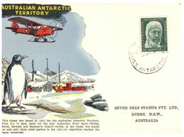 (N 32)  AAT - Australia  - 5d Mawson Stamp On Special Souvenir Card - Used Stamps