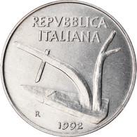 Monnaie, Italie, 10 Lire, 1992, Rome, TTB, Aluminium, KM:93 - 10 Lire