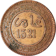 Monnaie, Maroc, 'Abd Al-Aziz, 5 Mazunas, 1903, Birmingham, TTB, Bronze, KM:16.1 - Marocco
