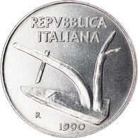 Monnaie, Italie, 10 Lire, 1990, Rome, TTB+, Aluminium, KM:93 - 10 Lire