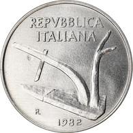 Monnaie, Italie, 10 Lire, 1982, Rome, SUP, Aluminium, KM:93 - 10 Lire