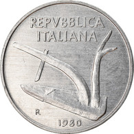 Monnaie, Italie, 10 Lire, 1980, Rome, TB+, Aluminium, KM:93 - 10 Lire