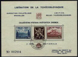 BELGIE Belgien - CSSR AS14** / Lidické Lidice / Belgie 1945 / Ceskoslovensk / Bratislava 1937 / Francouzskýtextu - Autres