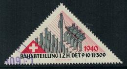 Suisse /Schweiz/Switzerland // Vignette Militaire // HD-Baudienst, I.ZH. Det. 9-10-11-309 - Viñetas