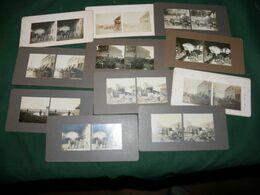 """GUERRE 14/18 , 11 PHOTOS STEREO  """" DES TONNES DE VETEMENTS """" - 1914-18"""