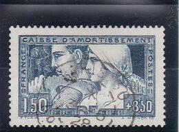 FRANCE 1928 Caisse D'Amortissement 1,5 Fr Bleu YT 252 - état Oblitéré D'époque Bien Centré - Signé CALVES - Cote180 € - France