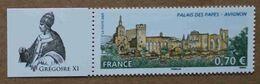 """T3-D1 : Le Palais Des Papes à Avignon -Vaucluse - Avec Vignette """"Grégoire XI"""" (Pierre Roger De Beaufort ) - Unused Stamps"""