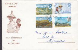 Lesotho Ersttags Brief FDC Cover 1965 Self Government Complete Set !! - 1965-1966 Interne Autonomie