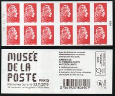 CARNET 12TP YSEULT YZ  - L'ENGAGEE - TVP LP -  MUSEE DE LA POSTE - Daté Du 15 10 19 - NEUF - NON PLIE - Freimarke