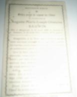 Augusta - Marie - Joseph - Ghislaine BAUWIN Née à Moignelée Le 28 Août 1899 Et Décédée à Tamines Le 22 Août 1914 - Overlijden