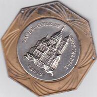 Médaille Octogonale Métal Argenté Et Doré;Sacré Coeur De Montmartre . Paris (18ém Arr.) - Non Classés
