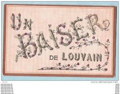 CP (non écrite) Un Baiser De LOUVAIN (incrustation De Mica) - Leuven