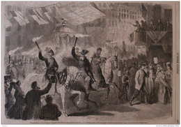 Réjouissances à New-York En L'honneur De L'élection Du Président Lincoln -page Original 1864 - Historische Documenten