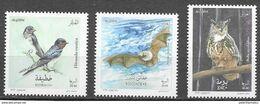 ALGERIA, 2020, MNH, BIRDS, BATS, OWLS, 3v - Uilen