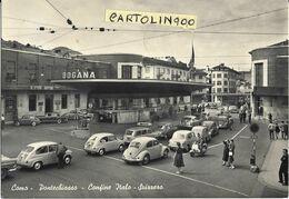 Lombardia-como-pontechiasso Confine Italo Svizzero Veduta Dogana Varie Auto Epoca Animatissima - Andere Städte