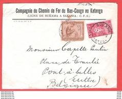 L En-tête COMPAGNIE Du CHEMIN DE FER DU BAS-CONGO KATANGA C.F.K. Ligne De Bukama à Sakania Obl BUKAMA 13 II 1930 - Congo Belge