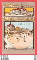 CP Litho Superbe LA PANNE BAINS Près OSTENDE Grand Hôtel De L'Océan  Tennis PMB 27 VII 1915 Vers ANGLETERRE - Unbesetzte Zone