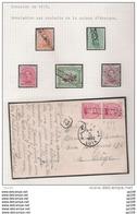Emission De 1915  Oblitération Roulette Sur 5 TP + 1 Document Vers LIEGE 1922  Pas Courant ! - 1915-1920 Albert I