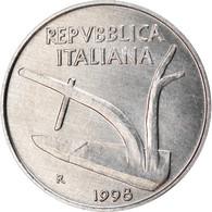 Monnaie, Italie, 10 Lire, 1998, Rome, TTB+, Aluminium, KM:93 - 10 Lire