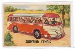 Engis - Souvenir D'Engis - Carte à Système - Autobus/Autocar - Circulé - 2 Scans. - Engis