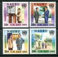 Nauru 1981 UN Day Set MNH (SG 244-247) - Nauru
