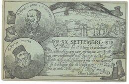 Italia - Roma - Morte - A Roma Ci Siamo E Ci Resteremo - 1870. XX Settembre 1920. - Viaggiato - 2 Scans. - Andere