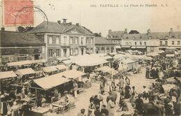 76 FAUVILLE - LA PLACE DU MARCHE - Andere Gemeenten
