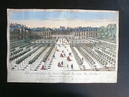 Vue D'Optique/Optische Prent: Palais Royal Du Coté Du Jardin PARIS - Prenten & Gravure