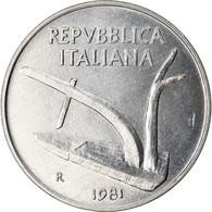 Monnaie, Italie, 10 Lire, 1981, Rome, TTB+, Aluminium, KM:93 - 10 Lire
