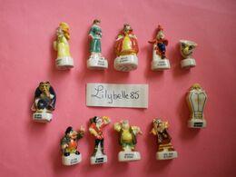 Serie Complète De 11 Feves DISNEY En Porcelaine - LE NOEL DE LA BELLE ET LA BETE 2000 ( Feve Figurine Miniature ) RARE - Disney