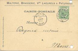 Belgique Carte Postale Oblitérée, Thème Bière, Beer, Bier. Brasserie Malterie Lheureux - Beers