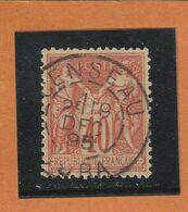 SAGE N° 94 Orange Vif  - CACHET  CENSEAU ( JURA )  19 DEC 1895 -centré - REF 1603 - 1876-1898 Sage (Type II)