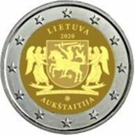 Lituânia  2euro - Region De Aukštaitija- 2020  UNC - Litouwen