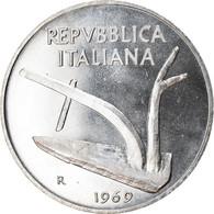 Monnaie, Italie, 10 Lire, 1969, Rome, TTB+, Aluminium, KM:93 - 10 Lire