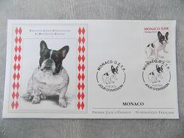 FDC Monaco 2013 : Exposition Canine, Le Bouledogue Français - FDC