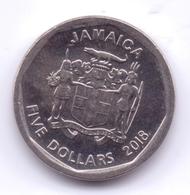 JAMAICA 2018: 5 Dollars, KM 163 - Jamaica