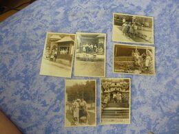 ROUMANIE ROMANIA 6 PHOTOS ORIGINALES UN GROUPE PERSONNAGES VACANCES SOVATA 1960 - Places