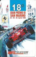 Italia, Automobilismo, Telecom Nuova, 18° Gran Premio Di San Marino 24/26 Aprile 1998. Valore Nominale 10.000 Lire. - Italia