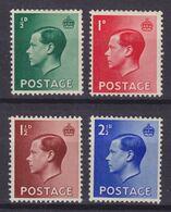 Great Britain 1936 Mi. 193-96 King König Edward VIII. Complete Set, MH* - Ungebraucht