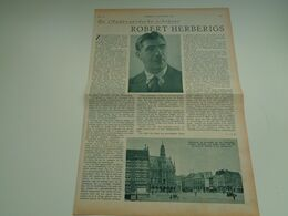 """Origineel Knipsel ( 2647 ) Uit Tijdschrift """"  De Stad """"  1936 :   Robert Herberigs   Oudenaarde - Vecchi Documenti"""