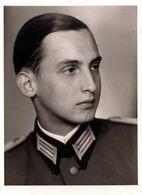 Photo Originale Guerre 1939/45 - Portrait Du Jeune Soldat Allemand Hans Dihm ( 1919/1941) Tombé En Lituanie - Guerra, Militari
