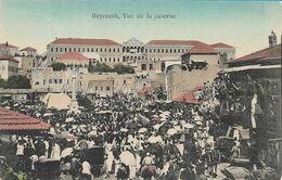 OLD POSTCARD - LIBAN - LIBANO - BEYROUTH , VUE DE LA CASERNE - VIAGGIATA 1908 - B48 - Lebanon